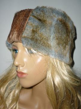 Turban Mütze aus hochwertigem Kunstfell