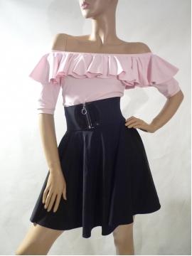 Tellerrock Kleid mit Volants