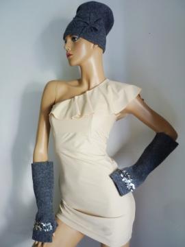 Modellmütze + Handschuhe
