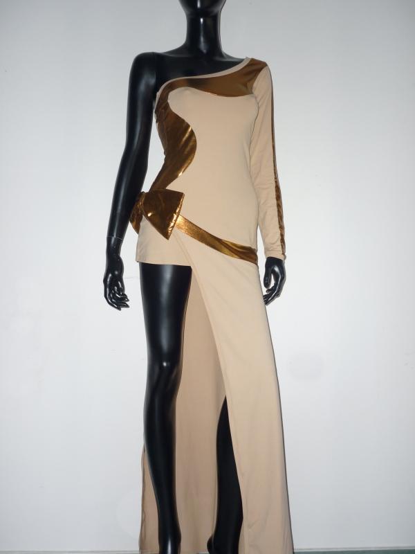 Luxury Abendkleid Beige-Gold