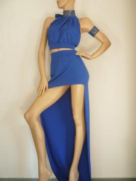 Luxury 2-Teiler Abendkleid mit Armdekoration