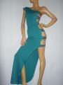 Luxury Abendkleid mit seitlichen Streifen