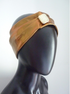Haarschmuck Turban gold