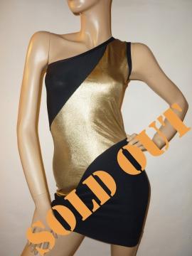 Schwarz-goldenes Abendkleid