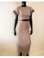 Kleid Zweiteiler in edlem Grau