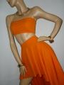 Fantastisches assymmetrisches Zweiteiler Kleid